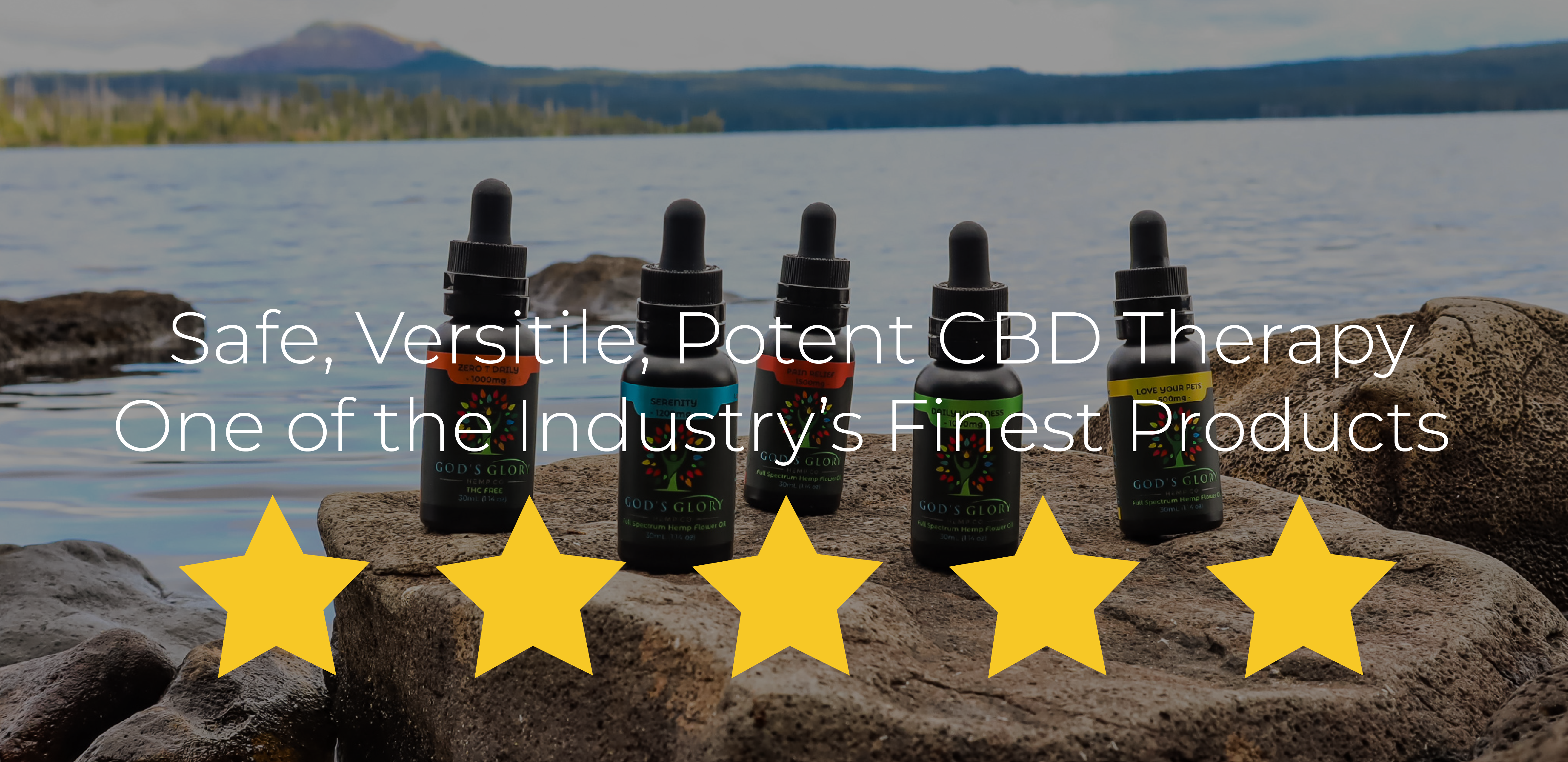 Our 5-Star Rated CBD Tincture Products
